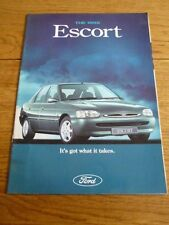FORD ESCORT L, LX, Si, GHIA AND Si CABRIOLET SALES BROCHURE FEBRUARY 1995