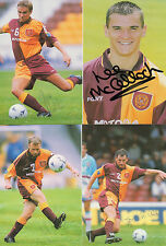 MOTHERWELL FC 4 AUTOGRAPHED FOOTBALL PHOTOS