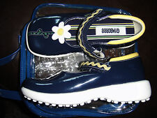 Gymboree Sporting Green navy blue daisy mary jane shoes NWT 12 HTF adorable!!