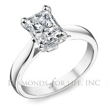 0.91 CT RADIANT D VVS2 GIA CERTIFIED DIAMOND ENGAGEMENT RING 5.74x4.72x3.96MM