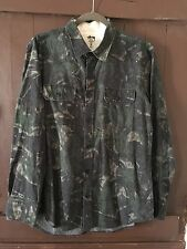 STUSSY Deluxe Camo Chambray Oxford Dress Shirt, Size Large, Excellent Condition!