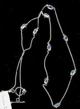 Signed Christian Dior Aquamarine Crystal Necklace New (D)
