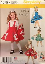 Simplicity 1075/349  Pattern For Girls 1950's Jumper/Skirt New Release Sizes 3-8
