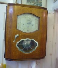 Original Art Deco Walnut Westminster Chime Wall Clock Full Working Order(6)