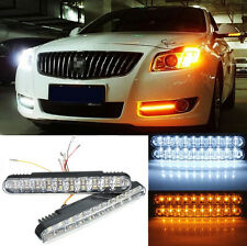 12V Pair  Car 30 LED Daytime Running Light DRL Daylight Lamp with Turn Lights