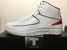 Nike Air Jordan 2 Retro Chicago Bulls ~ 385475 102 ~ Uk Size 10