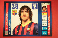 PANINI CHAMPIONS LEAGUE 2013/14 N. 556 PUYOL BARCELONA BLACK BACK MINT!