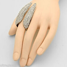 DIVA LONG CLAW CRYSTAL FINGER RHINESTONE RING/COSTUME/CROSSDRESSER/DRAG QUEEN