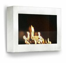 Anywhere Fireplace SoHo Wall Mount Ethanol Smokeless Eco Bio Fuel Glossy White