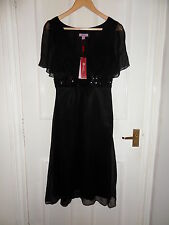 NEW Monsoon 100% Silk Xmas New Year Wedding Evening Cocktail Dress Size UK8 EU36