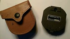 Vintage M2 Artillery Compass w/ Brown Leather Case SN # 76309