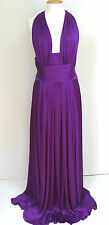 NEW ISSA Silk Purple Backless Maxi Gown Dress UK 14/16