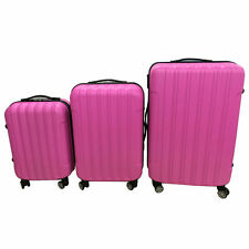 3PCS Luggage Travel Set Bag ABS Trolley Hard Shell Suitcase w/TSA lock Cute Pink