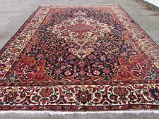 Antique Traditional Hand Made Persian Wool Blue Oriental Large Carpet 475x350cm