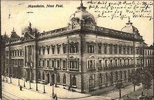 Mannheim Baden Württemberg s/w Postkarte 1911 gelaufen Partie an der neuen Post