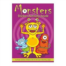 6 Monster Sticker Activity Books - A6 - Loot/Party Bag Fillers Wedding/Kids