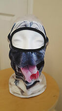Pug Dog Face Balaclava Mask Motorcyclist Lycra Fancy dress Freaky Halloween Mask