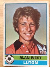 Topps Football Cards - Red Back (1977) - Alan West (Luton)