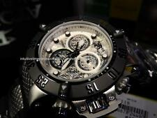 New Invicta Men 50MM Swiss ETA Subaqua Noma 3 SS Silver dial Chrono Strap Watch