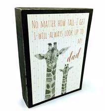 Dad Gift - East of India 'Look up to dad' Wooden Mantel Block 3526EOI