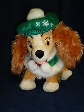 """12"""" Disney Store plush McCozy Cables LADY from Lady & the Tramp Winter Hat/Shaw"""