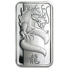 1 oz Silver Bar - PAMP Suisse (Year of the Dragon/No Assay) - SKU #73955