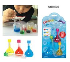 Kids Colour Bubble Kit Mixing Experiment Learning Colours Stocking Filler Toys
