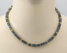 Labradoritkette Labradorit Plättchen Vierecke Halskette für Damen 45 cm
