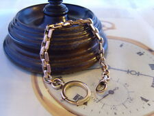 FRENCH VICTORIAN 10CT ROSE GOLD/F FANCY LINK POCKET WATCH CHAIN/ALBERT. C~1890's