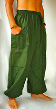 Balloon Harem Festival Trousers Mens and Ladies Army Green Khaki
