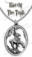 END OF TRAIL NECKLACE for MALE or FEMALE - DIAMOND CUT WESTERN ART GIFT SALE  C*