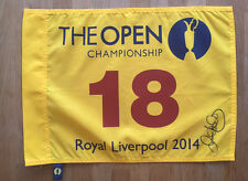 Rory McILROY SIGNED 2014 Royal Liverpool Open Golf Flag Autograph AFTAL COA