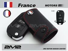 2732ALeather Key fob Holder Case Chain Cover FIT For PEUGEOT 208 gti 2008 cc 408
