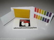 80x Universal pH Litmus Paper Indicator Strips - Test Mushroom Substrate pH 1-14