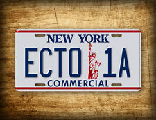 Ghostbusters 2 Movie License Plate ECTO 1A Commercial New York Vintage Auto Tag