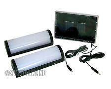 2 x 10 LED SOLAR POWERED RECHARGEABLE GARDEN SHED GARAGE STABLE LIGHT TWIN PACK