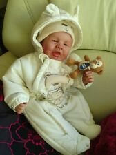 CHUBBY JACKSON realistic reborn happy baby boy doll with dimples Reduced to sell