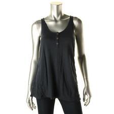 Lucky Brand 4056 Womens Navy Mesh Inset High Low Tank Top Shirt XL BHFO