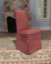 MINIATURE DOLLHOUSE 1:12 SCALE BESPAQ CHECK PARSONS CHAIR 1050-RCP