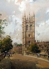 ORIGINAL WATERCOLOR BY NOTED ARTIST NOEL H LEAVER MAGDALEN TOWER OXFORD