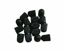 100 BLACK PLASTIC TIRE VALVE STEM CAPS