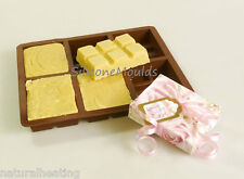 6 cell TOFFEE / FUDGE Chocolate Mould (100g) Professional Silicone Bar Mold Soap