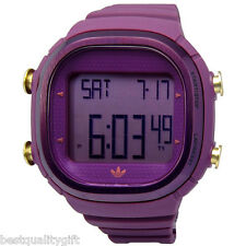 NEW-ADIDAS SEOUL PURPLE POLYURETHANE+DIGITAL CHRONOGRAPH WATCH-ADH2074