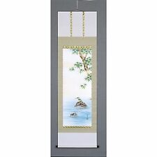 Kingfisher / Kawasemi - w paulownia wood box - Kakejiku Japanese Hanging Scroll