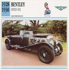 1928-1930 BENTLEY SPEED SIX Classic Car Photo/Info Maxi Card