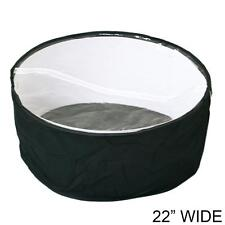 22 Inch Collapsible Fabric Hat Bag with Clear Vinyl Top - Travel Hat Storage