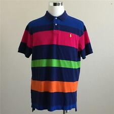 VTG POLO RALPH LAUREN MULTI COLOR STRIPED SS RUGBY POLO SHIRT XL
