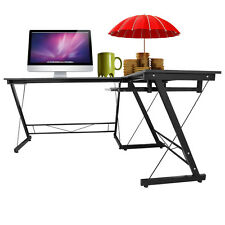 "66.14"" l Shaped Desk Corner Workstation Computer Table Home Office Study Student"
