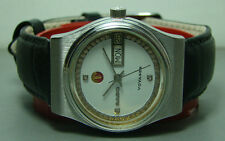 VINTAGE RADO VOYAGER AUTOMATIC DAY DATE SWISS 34551490 WATCH WHITE DIAL OLD USED