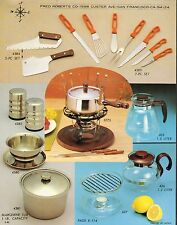 VINTAGE AD SHEET #1919 - FRED ROBERTS CO KNIVES - COOKWARE